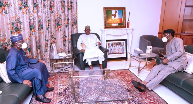 Buhari Meets Lawan
