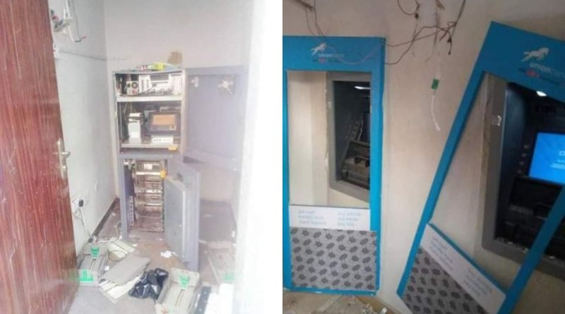 Robbers Attack Bank