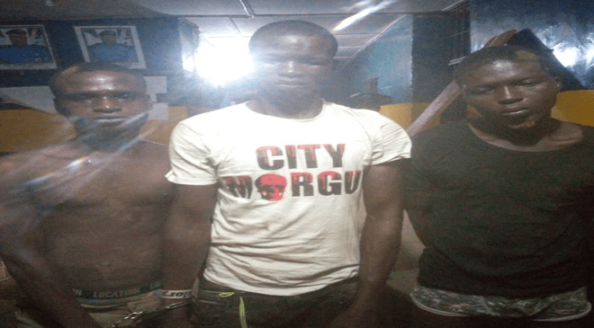 Three Suspected Armed Robbers