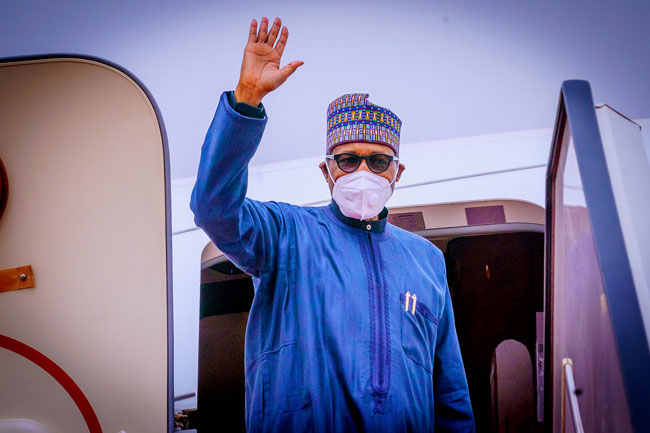 BREAKING: Buhari Leaves For London To Attend Summit, Medical Check-up