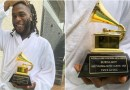 Video: Burna Boy Takes Delivery Of His Grammy Award Trophy