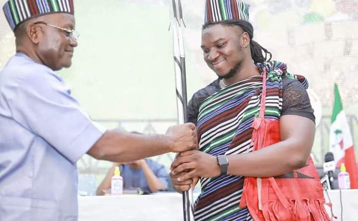 PHOTOS: Ortom Decorates Nigerian Idol Runner Up, Francis Atela Youth Ambassador