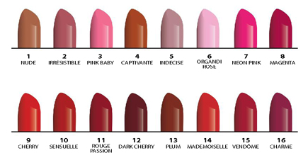 Coloris rouge à lèvres Glam'Up