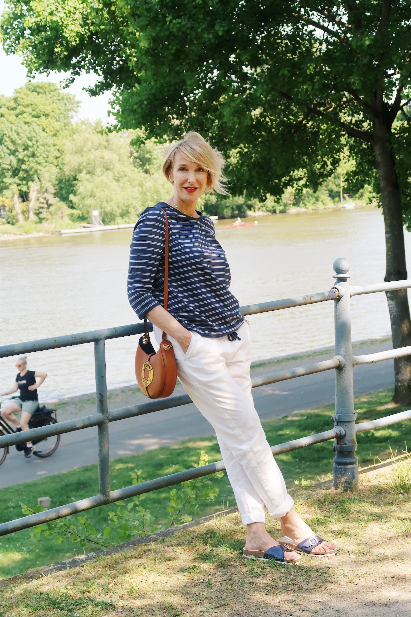 glamupyourlifestyle streifenshirt ringelpulli offshoulder-blouse leinenhose ue-40-mode ue-50-blog
