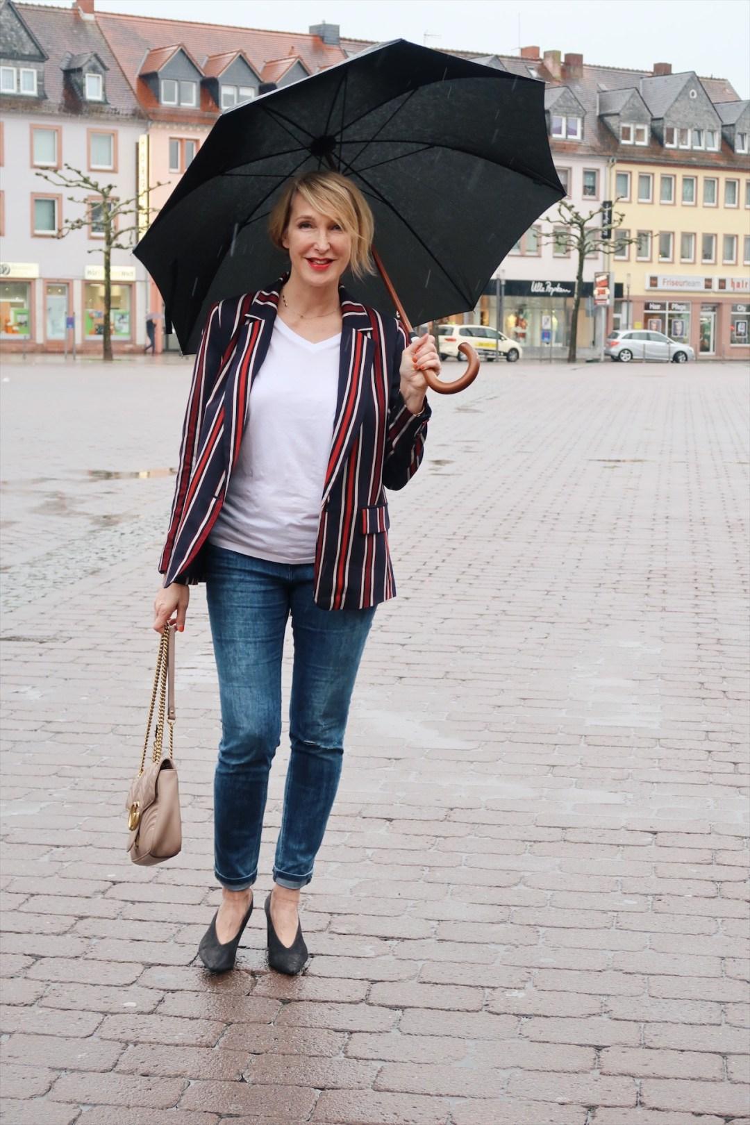 glamupyourlifestyle gestreifter-blazer blazer Sommerjacke gucci-tasche ue40-blog ü50-bloggerin