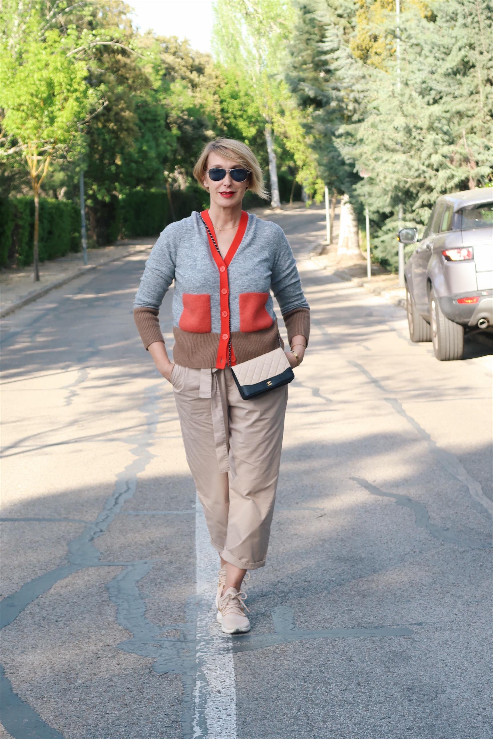 glamupyourlifestyle paperbaghose leichter-cardigan strickjacke ü-40-blog ue-40-blog ü-50-blog