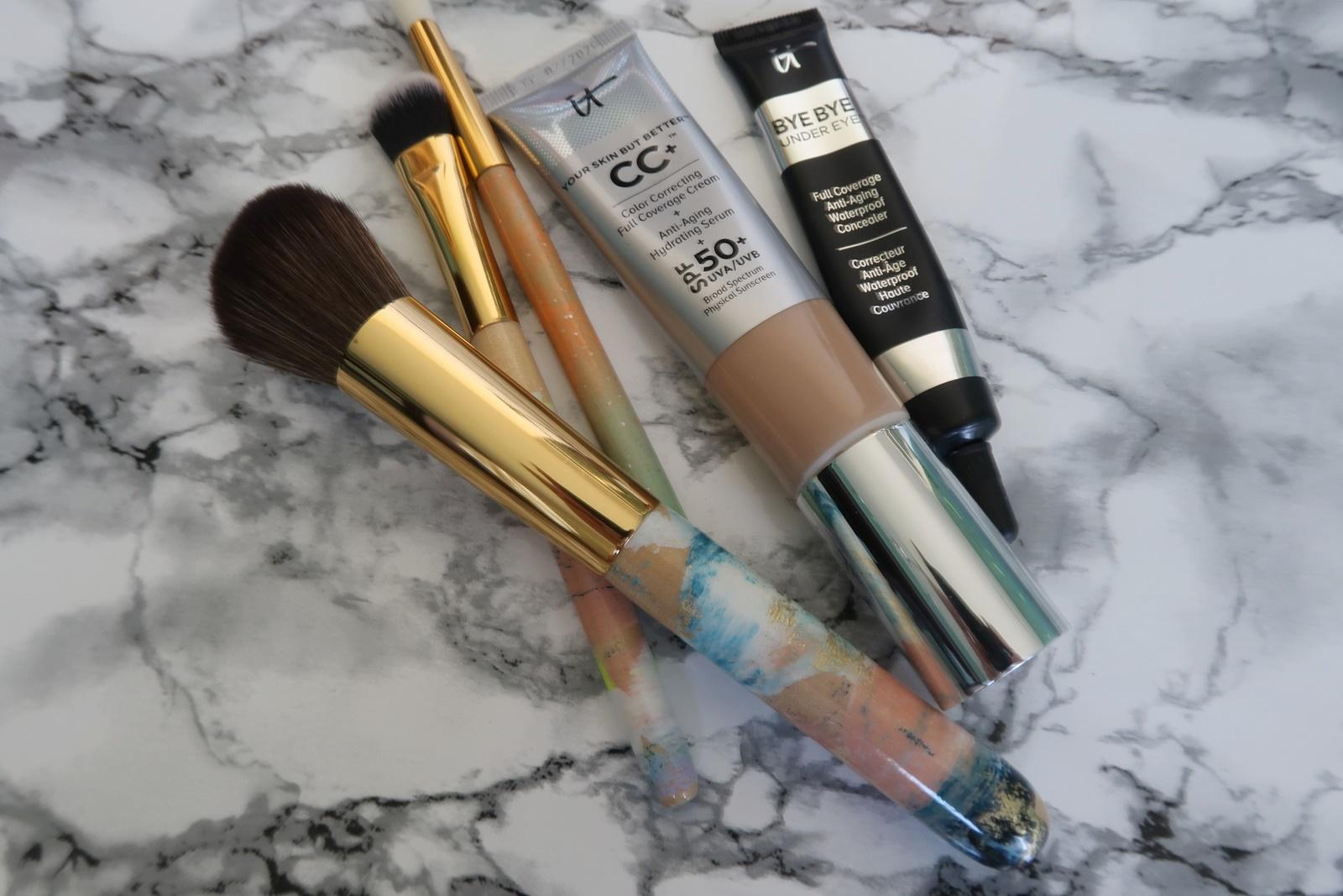 glamupyourlifestyle ü50 ue50 Make-up-Routine roter-Lippenstift vegane-Pinsel Miriam-Jacks nude-by-nature