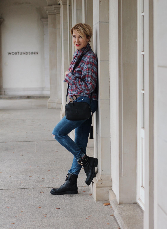glamupyourlifestyle karobluse karierte-Bluse Schluppenbluse ue-40-blog ue-50-blog ü-40-blog