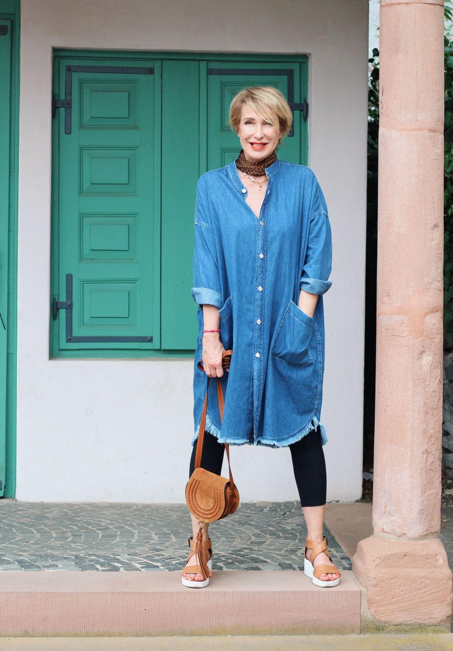 glamupyourlifestyle Jeanskleid hemdblusenkleid ue-40-blog ue-50-blog Fashion-blog
