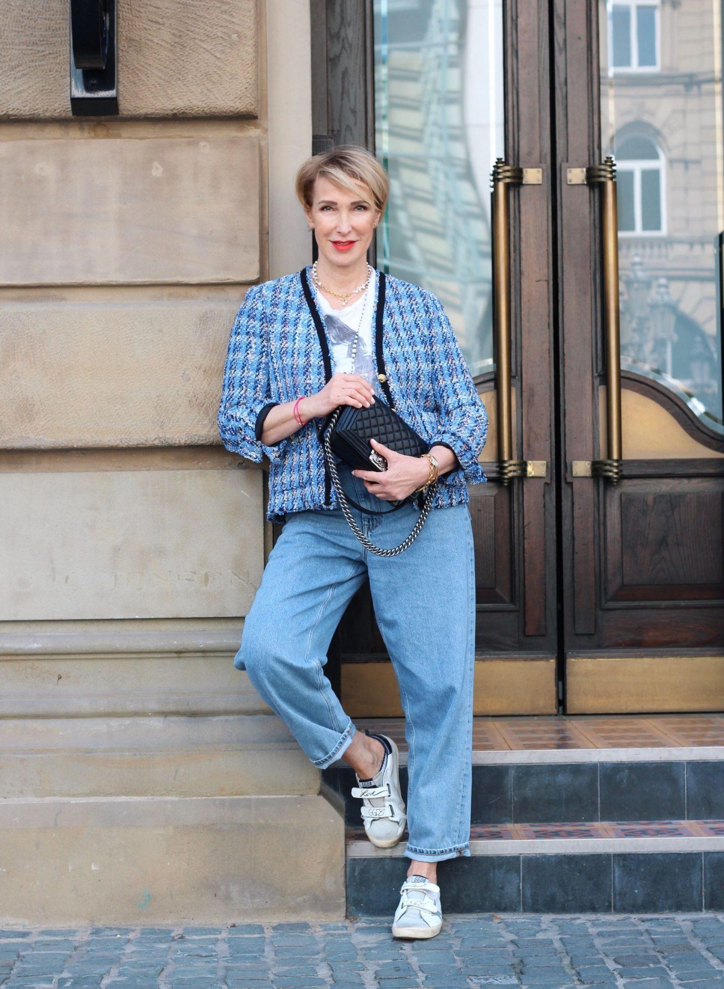 glamupyourlifestyle tweed-Jacke Chanel-Jacke style ue-40-blog ue-50-blog ü-40-mode