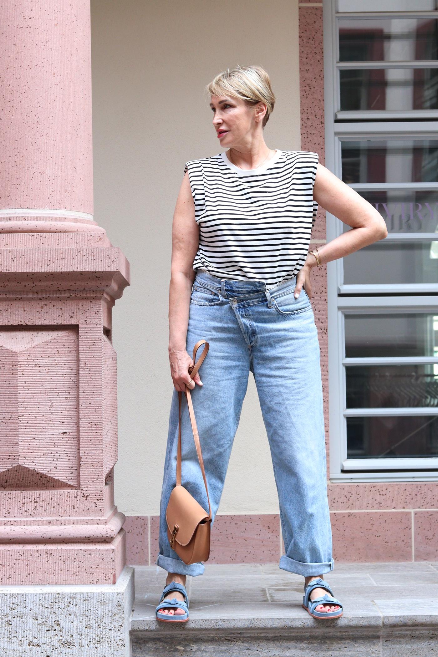 glamupyourlifestyle ringelshirt crisscorss-jeans Fehlkaeufe ue-40-blog ue-50-mode
