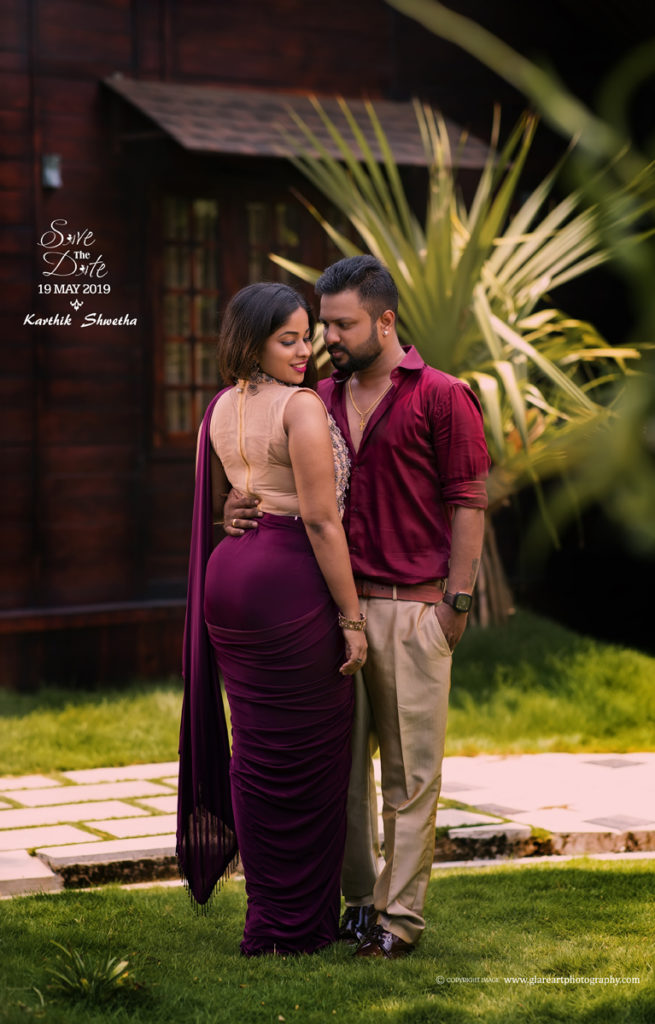Save The Date Karthik Shwetha Glareart Wedding