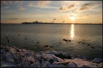 Vue sur la plage. (Beauport, Québec, novembre 2005)