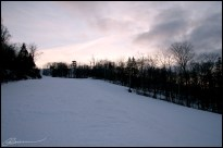 Sunset on ski... (Le Relais, Lac Beauport, janvier 2007)