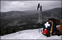 Au sommet du Mont Chocolat. (Massif du Sud, Québec, décembre 2008)