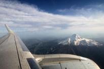 Vue aérienne du Mont Hood (Oregon).