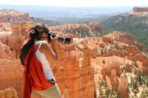En mode semi-touriste, Bryce Canyon (Utah). (Photo par Christophe Deschamps)