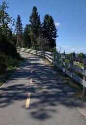 La piste cyclable entre Chambord et Roberval