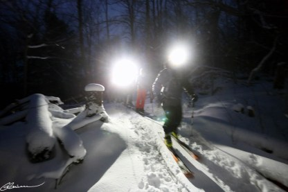Rando alpine nocturne. (Mont Tremblant, Québec, janvier 2015)