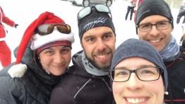 """Course de 5km de Noël, série du Diable. Avec des """"bons diables""""! (Shawinigan, Québec, décembre 2016)"""