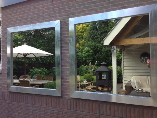 Tuinspiegels  Tuinspiegel Op Maat  Glasbestellennl