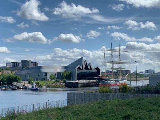 Riverside Museum Glasgow on River Clyde