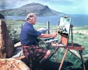 Admiral Sir Roddy Artist in Western Isles of Scotland