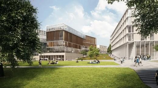 University of Glasgow Campus Masterplan buildings
