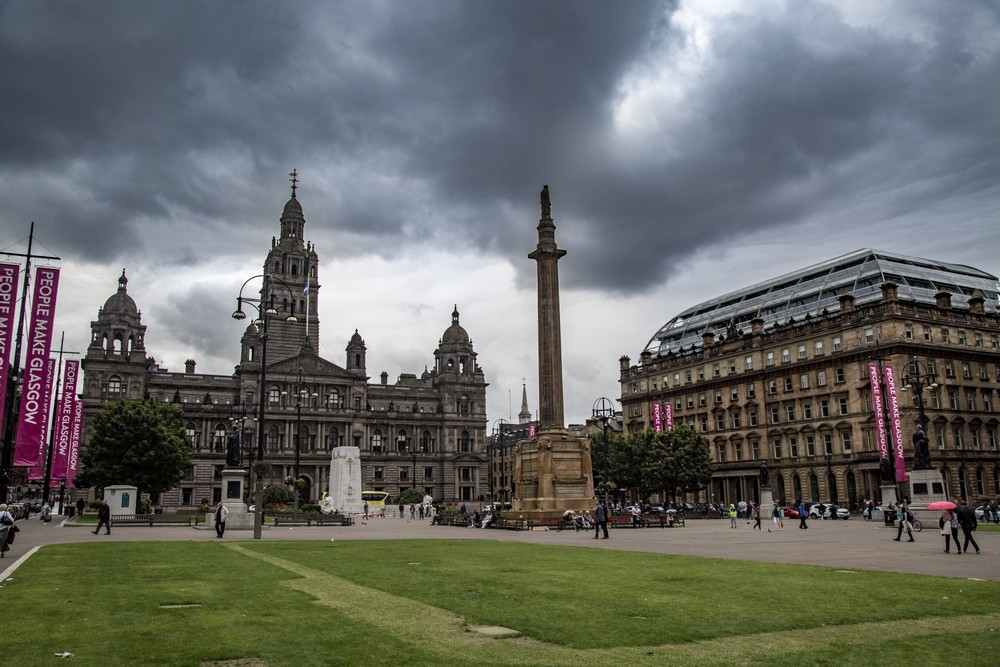 Glasgow City centre George Square view