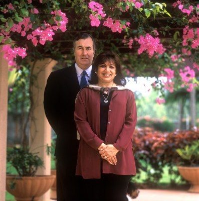 John Shaw and his wife Kiran Mazumdar-Shaw