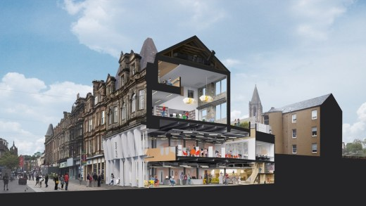 Paisley High Street Learning and Cultural Hub building