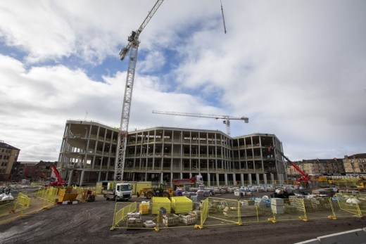 University of Glasgow New Research Hub construction