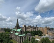 Glasgow Cathedral building from Necropolis