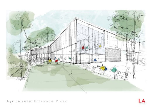 New Ayr Leisure Centre building design