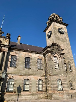 Clydebank Town Hall building Glasgow