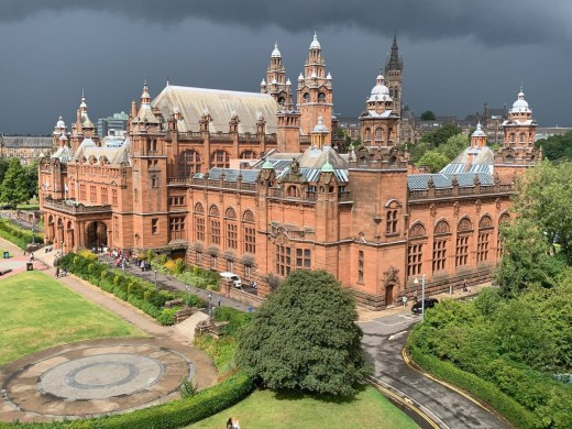 Kelvingrove Gallery Glasgow thunder clouds 2021