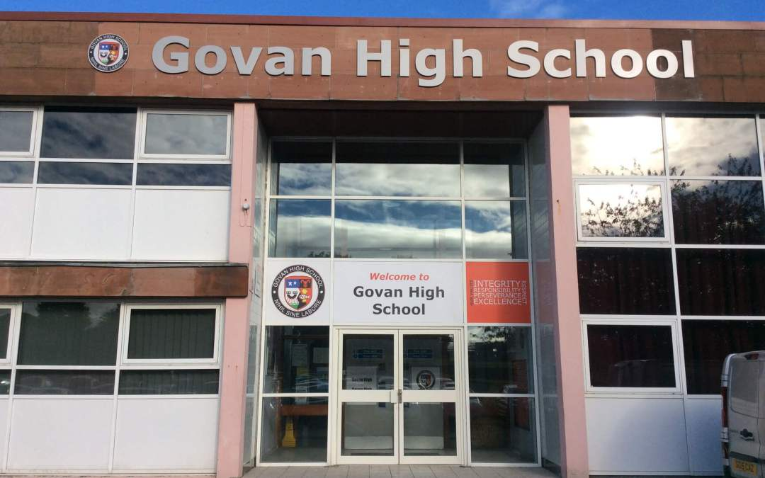 Building Signage - Govan High School - Glasgow Creative