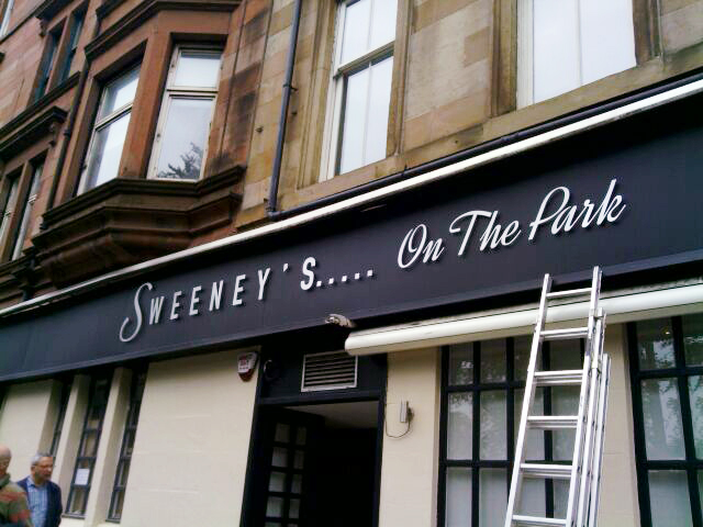 Sweeney's - Shop Signs 2 - Glasgow Creative