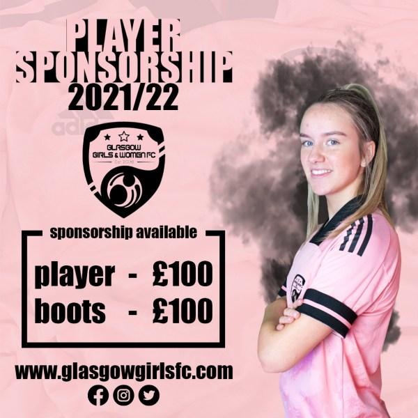 Player Sponsorship Advert 2021