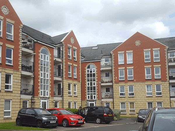 Greenview outside - Glasgow Green Apartments