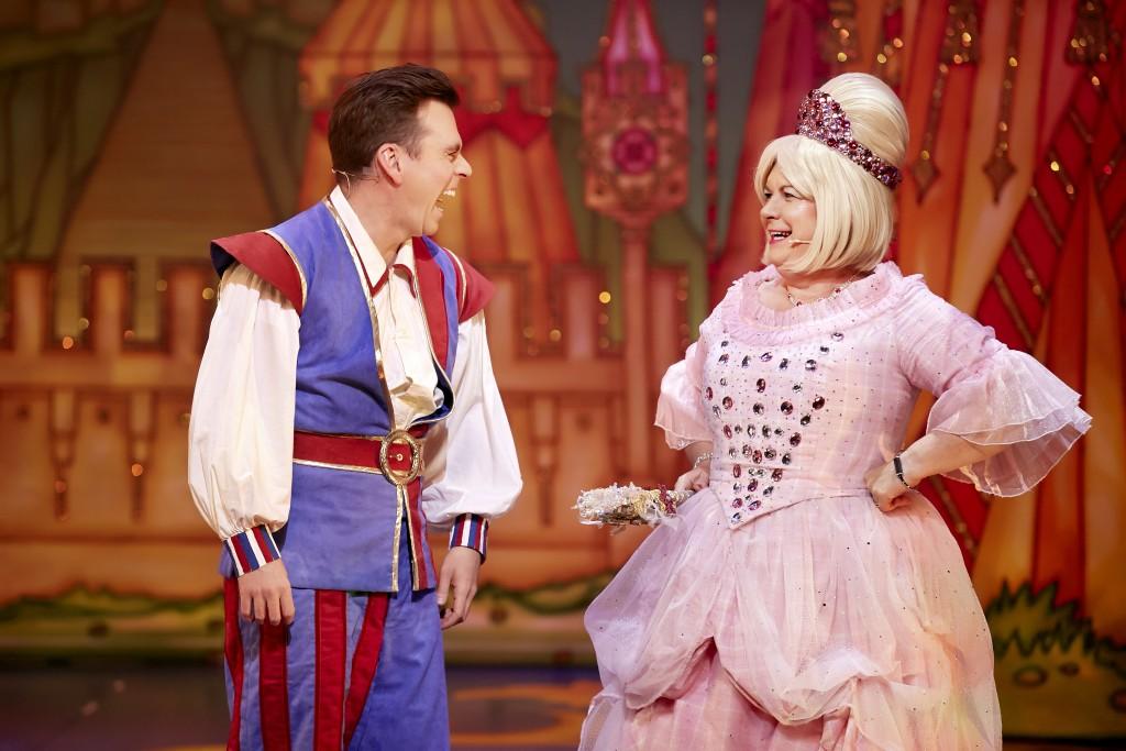 Elaine C Smith and Johnny Mac in Sleeping Beauty