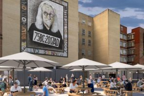 Glasgow Beer Works build beer garden below Billy Connolly
