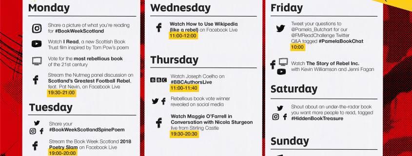 book week calendar