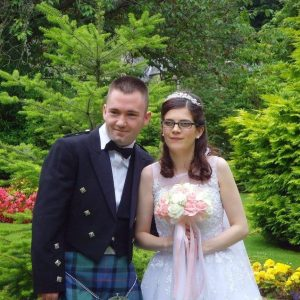 Left to right Michael Murphy and Shannon Murphy on their wedding day July 23 2016