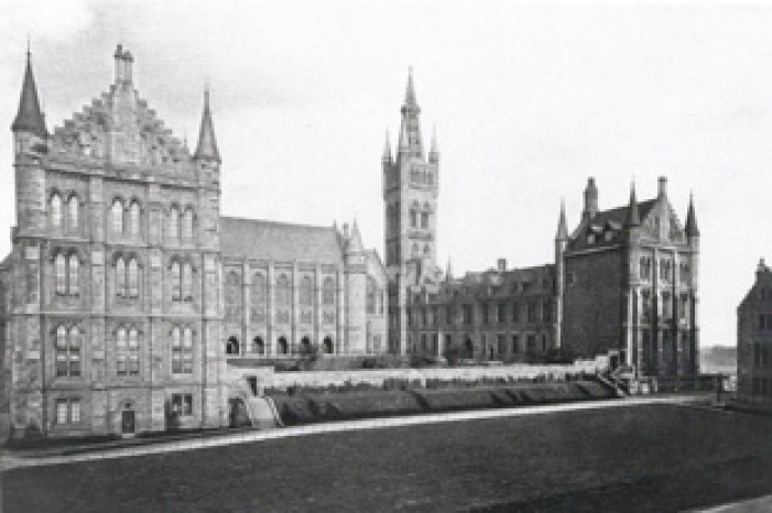 A view of the University before the Chapel was constructed.