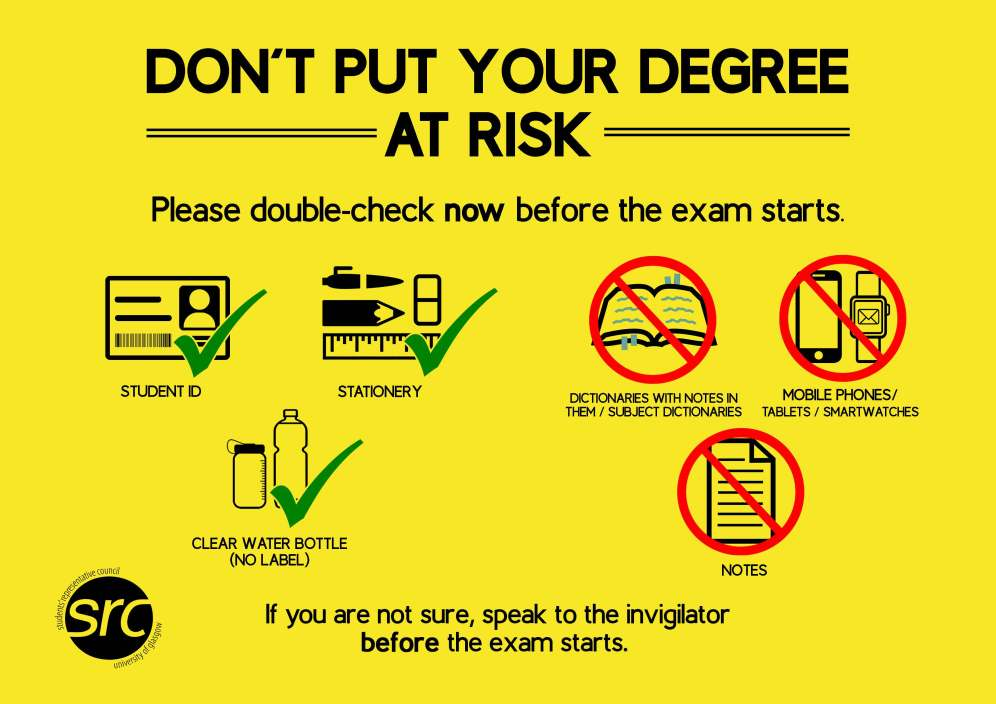 Don't Put Your Degree At Risk poster