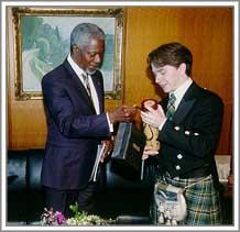 Michael Bowes and Kofi Annan
