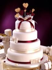 Photo: wedding cake.