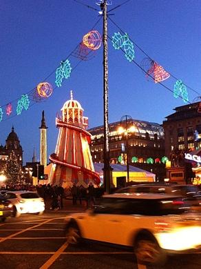 Photo: Christmas on George Square, Glasgow.