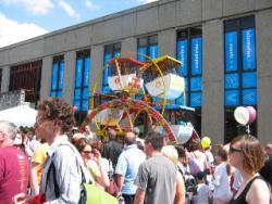 Photo: the parade.